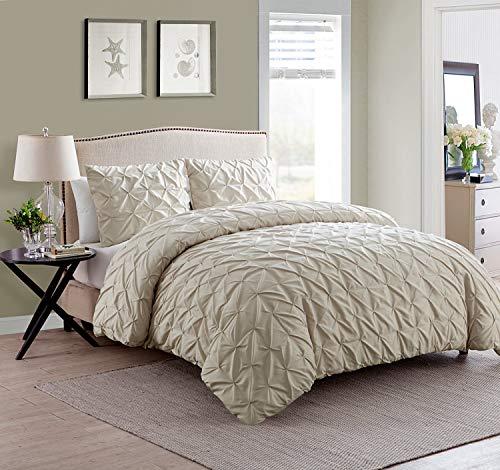VCNY Home Madison 6Stück Mikrofaser Tröster Set, Super Weiche Bett in Einer Tasche, knitterfrei, hypoallergen Bett-Set, Twin/Twin XL, Taupe -