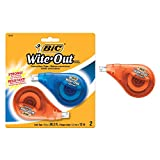 Bic WOTAPP21 EZ Correct Wite-Out Correction Tape, Multi-Colour