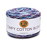 Lion Brand Yarn 50 Cotton/50 Percent Polyester, Cloud Nine, One Size