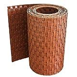 Bandes pare-vue en rotin workingHOUSE - Brise-vue pour clôture avec panneaux double fil - 19x 250cm Bois
