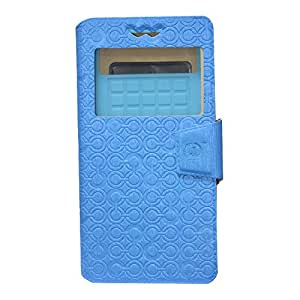 Jo Jo Cover Astro Series Leather Pouch Flip Case With Silicon Holder For Microsoft Lumia 940 Exotic Blue