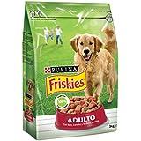 Friskies Adulto Alimento para Perros, Seco, con Carnes, Cereales Y Verduras Añadidas - 3 Kg