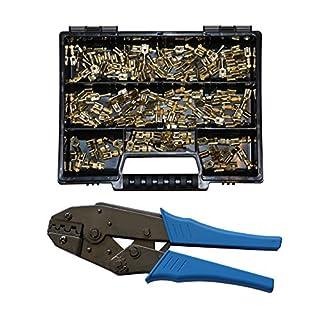 Sortiment mit Flachsteckhülsen 6,3x0,8 DIN 46340, Crimpzange Industrie KFZ LKW