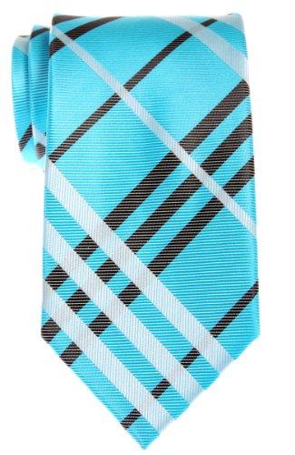 Retreez bolsita de cuadros escoceses con tejido de microfibra para hombre corbata–varios colores Turquesa turquesa Talla única