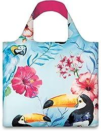 LOQI Wild Birds Reusable Shopping Bag, Blue