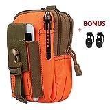 Xidan 1000D Nylon Molle Outdoor Groß Kapazität Taktisch Smartphone Halter EDC Carry Zubehör Taillepäckchen Tasche Hülle mit Gürtel Schlaufe & Gurtschloss für Zubehör