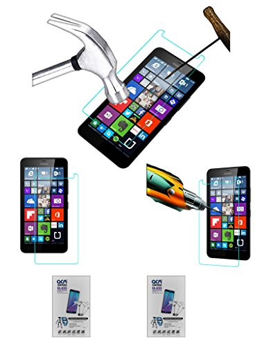 Acm Pack of 2 Tempered Glass Screenguard for Microsoft Lumia 640 Xl Lte Screen Guard Scratch Protector