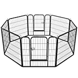 SAILNOVO Pet Dog Cat Exercise Barrier Fence Exercise Playpen Outdoor/Indoor Cage  (31.5 x 31.5inch)