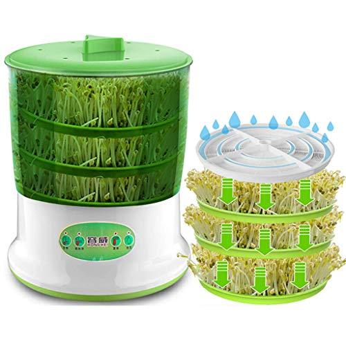 WARM WORM Sojabohnensprossen Intelligente Automatische Maschine, 3 Schichten Funktion Haushalt Große Kapazität Samen Wachsen Getreide Werkzeug, gesunde Sojabohnensprossen Maker