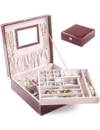 BalladHome Caja Joyero con Espejo Caja para Joyas joyero Caja de Joyas Organizador de Joyas,