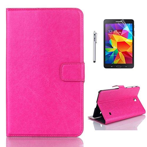 Produktbild Galaxy Tab 4 8.0 T330 Hülle ,  Caseforyou® PU Leder Folio Flip Bookstyle Schutzhülle für Samsung Galaxy Tab 4 8.0 T330 ,  Rosig