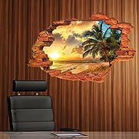 Palm beach 3d Home finta finestra adesivo da parete Decorazioni
