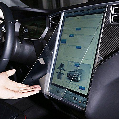 KKmoon 0,5mm 9H Vetro Temperato dello Schermo di Protezione della Protezione della Pellicola della Protezione Antischegge per Tesla Model S 17 Pollici Toccare Schermo