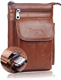 Universal Real Cowhide Leather Fanny Small Messenger Shoulder Satchel Waist Bag Pack With A Removeable Shoulder...