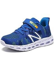 HSNA Zapatillas para Niño Antideslizante y absorción de Golpes Zapatos Correr Transpirables ...