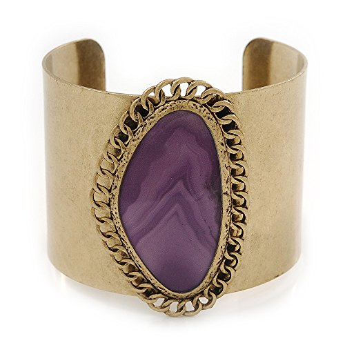 vintage-burnished-gold-purple-epoxy-bead-cuff-bracelet-5cm-width-20cm-length