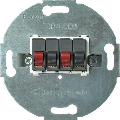 Elso Stereo-Lautsprecher-Anschlußdose mit Steckklemme ENS, 662003