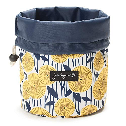 Jadyn B Cosmetic Bag - Cinch Top Compact Travel Makeup Bag and Cosmetic Organizer for Women, Yellow Floral (Kosmetik-tasche Nike)