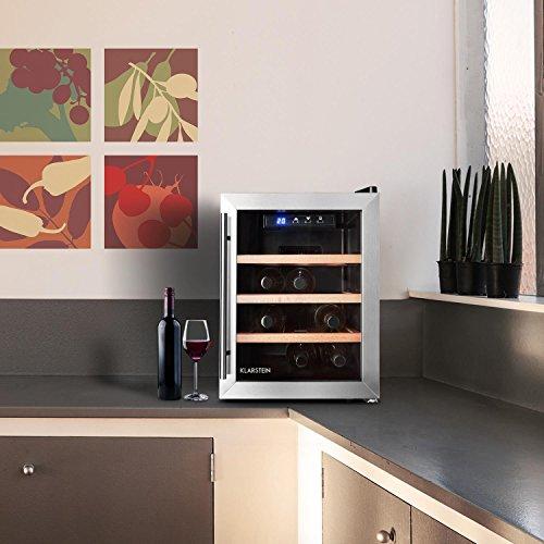 Klarstein Reserva 12 Uno • Weinkühlschrank • 33 Liter • 12 Weinflaschen • 3 x...