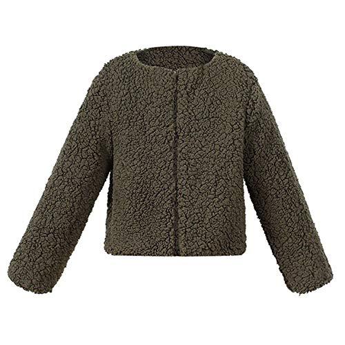 (Babykleidung Honestyi Kind Baby Mädchen Herbst Winter Faux Cashmere Mantel Jacke Dicke Warme Outwear Kleidung (Khaki,90/S))
