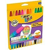 BIC Kids Oil Pastels - Blíster de 24 unidades, ceras blandas, colores surtidos
