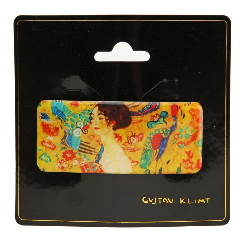 Barrette à cheveux Gustav Klimt Dame avec compartiments 4/9 cm