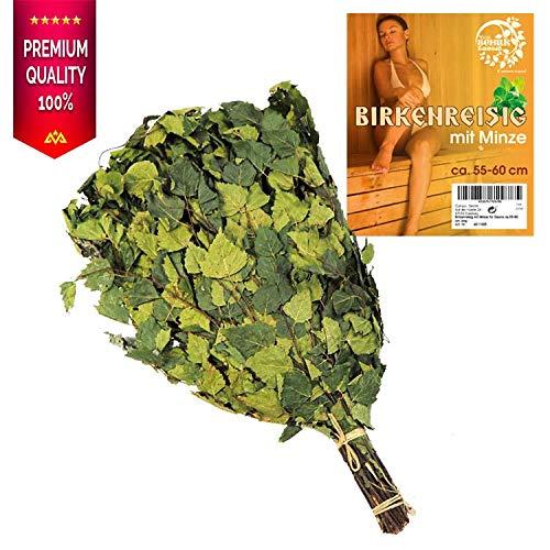 Birkenreisig mit Minze für Sauna ca.55-60 cm.
