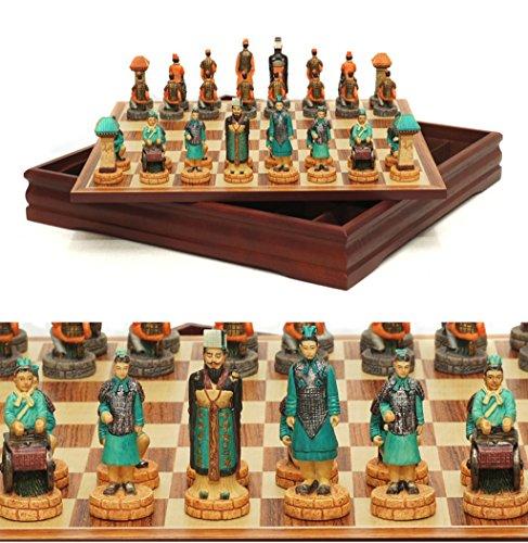 LIAN Chinesische antike Art Schach Spiel Set Sammlerstück