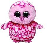 TY 7136094 - Pinky - Schleiereule, Beanie Boos, 15 cm, pink