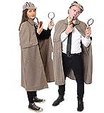 ILOVEFANCYDRESS BERÜHMTER ENGLISCHER Detective =Sherlock Watson =KOSTÜM VERKLEIDUNG =MIT Lupe UND Plastik Pfeife =2 GRÖßEN=Cape /STANDART