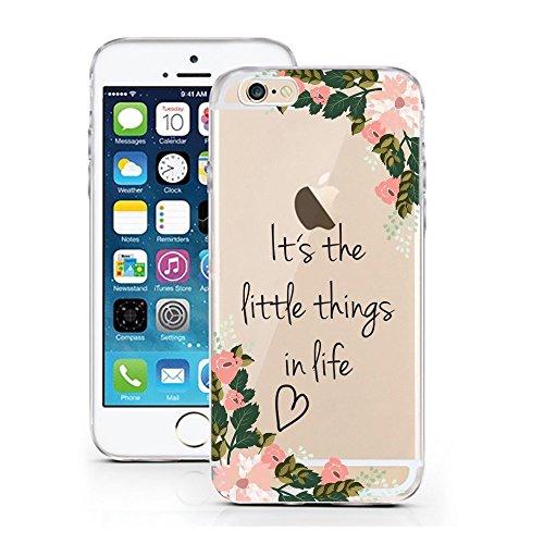 licaso Handyhülle für iPhone 7 und 8 aus TPU mit Little Things in Life Print Design Schutz Hülle Protector Soft Extra (iPhone 7/8, Little Flower Things)