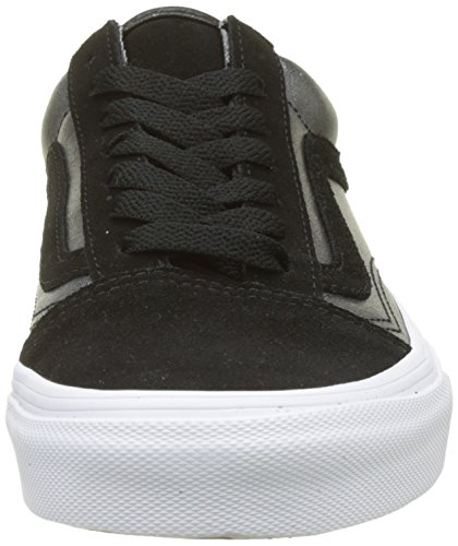 Vans Damen Old Skool Sneaker In Pelle Schwarz (bicolore Metallizzato / Nero / Bianco Reale)