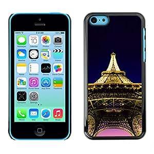 Be Good Phone Accessory Hartschalen Handyhülle Schutzhülle Schutz Etui Hülle für Apple Iphone 5C//Architecture Eiffel Tower Paris
