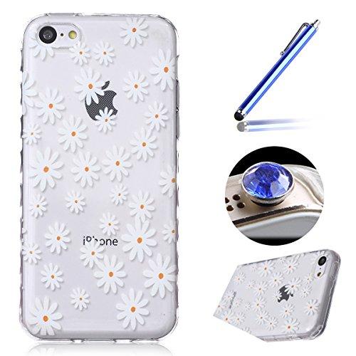 etsue-clear-case-per-iphone-5ccassa-molle-del-gel-per-iphone-5ccase-cover-pretty-white-daisy-design-