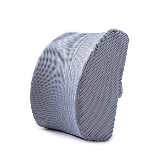 Verstellbare Mesh Zurück (BAIYI Taillenkissen Memory Foam Atmungsaktives Mesh Verstellbarer Schultergurt Taille Unterstützung Zurück Lendenkissen,Gray)
