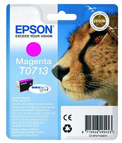 Epson T071 Serie Ghepardo, Cartuccia originale getto d'inchiostro DURABrite Ultra, Formato Standard, Magenta