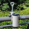 Videx-Sonnenschirmhalter für Handlauf, Typ H II, aluminiumfarben, bis ø 35mm von VIDEX GmbH & Co. KG - Gartenmöbel von Du und Dein Garten