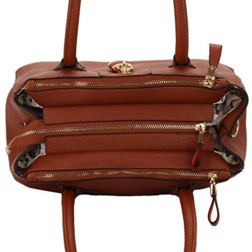 Leahward® Fashion Fashion Tote Di Qualità Desinger Borse Da Donna Alla Moda Di Vendita Rapida Borse Big Size Tote Bag Cws00195a Brown