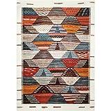 wecon home Modern Berber Moderner Markenteppich, Polypropylen, Mehrfarbig, 290 x 200 x 1.3 cm