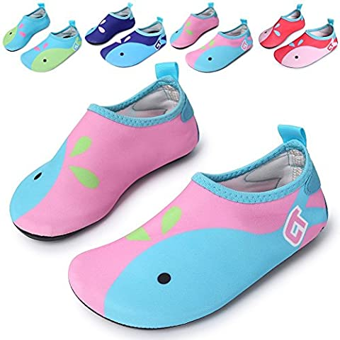 Kids Swim Water Shoes Barefoot Aqua Socks Shoes for Beach Pool Surfing Yoga Unisex (8.5-9 M UK Toddler,