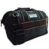 COPECHILLA sac a outils electricien professionnel,30X 23X 15CM,Noir,Matériel 600D Oxford double épaissie imperméables,avec ceinture réglable et poignée,pour electricien,maintenanceman technique