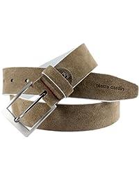Pierre Cardin - Cinturón de cuero para hombre / cinturón para hombre pierre cardin, arena, 70083,