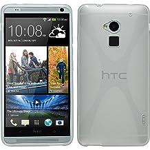 Funda de silicona para HTC One Max - X-Style transparente - Cover PhoneNatic Cubierta + protector de pantalla