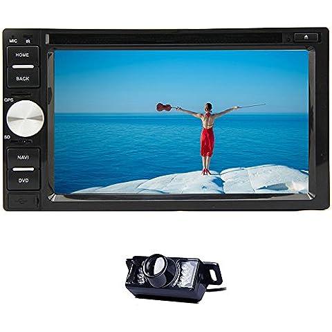 En Dash Receptor de CD reproductor de DVD audio auto radio doble din coche Vídeo del coche estéreo PC unidad principal BT Audio Touch Screen System 6.2