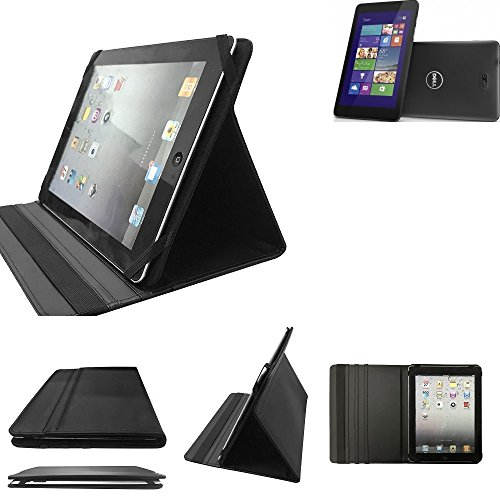 K-S-Trade Dell Venue 8 Pro 3G Schutz Hülle Business Case Tablet Schutzhülle Flip Cover Ultra Slim Bookstyle Tasche für Dell Venue 8 Pro 3G, schwarz. Kunstleder Qualitätsware