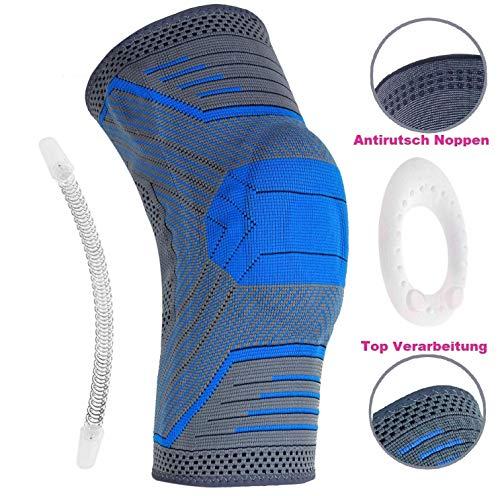 Belmed. Kniebandage Patella Bandage - Sport, Fußball, Joggen oder Fitness, Meniskus Knie-Bandage mit Silikonring und Seitenfeder Rechts & Links tragbar
