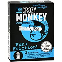 The Crazy Monkey Condoms Fun+Friction, 3er Packung preisvergleich bei billige-tabletten.eu