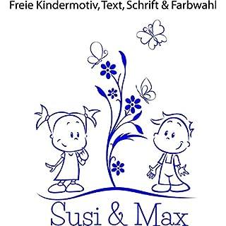 NEU ***2 Geschwister mit Ihrem Wunschtext - Design 1*** Baby/Kinder Autoaufkleber, Wandaufkleber, Türtattoo (Größen.-Motiv.-Farb.- und Schriftauswahl)