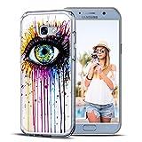 Conie Backcover kompatibel mit Samsung Galaxy S3 Mini, Silikon Hülle mit Bilder Motive verstärkte Knöpfe Kantenschutz Bumper