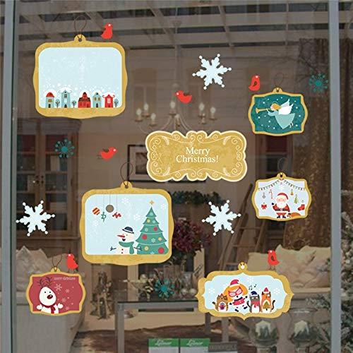(EWQHD Feiern Sie Weihnachten Thema Bilder Wand-Aufkleber Für Shop Home Dekoration Diy Kinderzimmer Wandgemälde Kunst Fensteraufkleber Pvc-Poster)